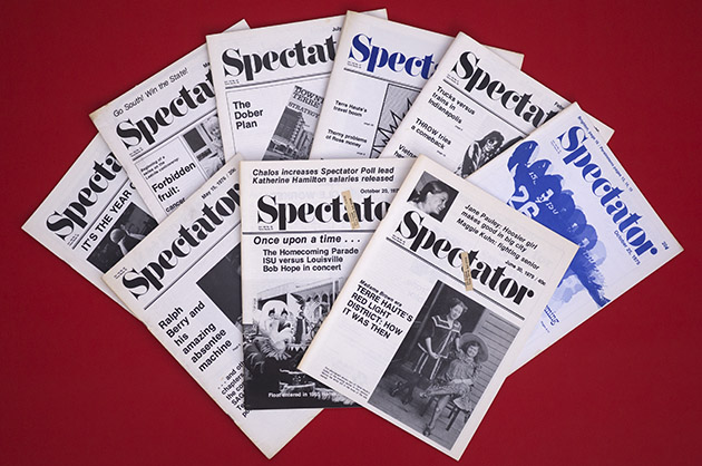 The Saturday Spectator covers, 1976-79. photo by Daum C.