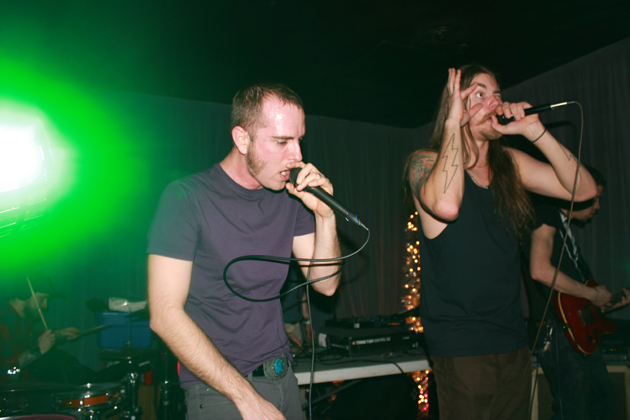 Bad Meat performing live in early 2013, photo by Sara Noe.