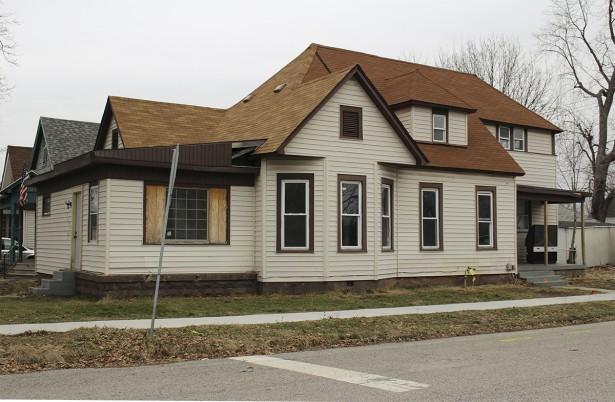 Gilbert Wilson Home has  Fallen on Hard Times, 1201 N. 4th Str. Terre Haute, IN, 2014, photo by L.Berry
